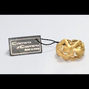 18K Yellow Gold Carrera Y Carrera Adam & Eve Ring